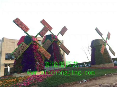 长沙花卉租摆——-道路立体美化